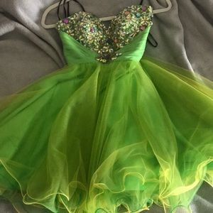 LIME GREEN PARTY DRESS💚